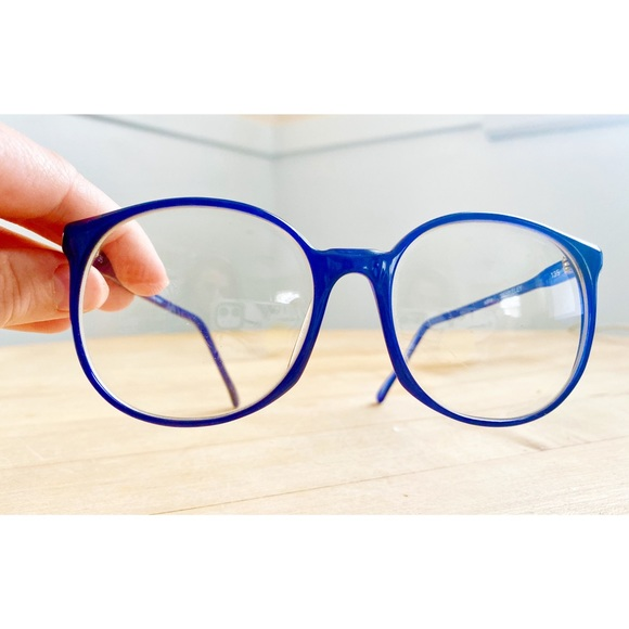 Vintage Other - Vintage 80s Cobalt Blue Glasses